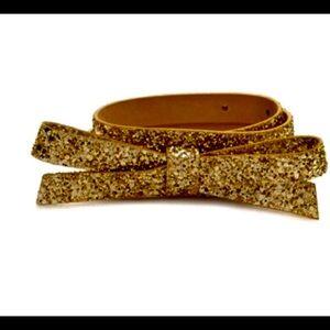 kate spade glitter bow belt
